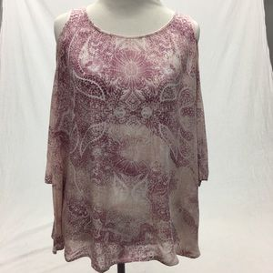 O'NEILL COLD SHOULDER BOHO BLOUSE SIZE XS NWOT